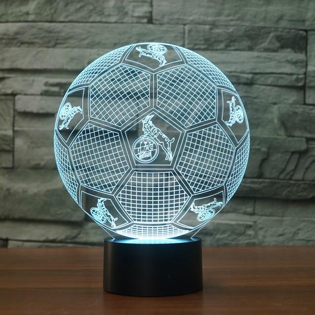 Xmas Gifts USB 3D Night Light Football Club LED Touch Lamp Soccer Fc  NightLight 3D Visual