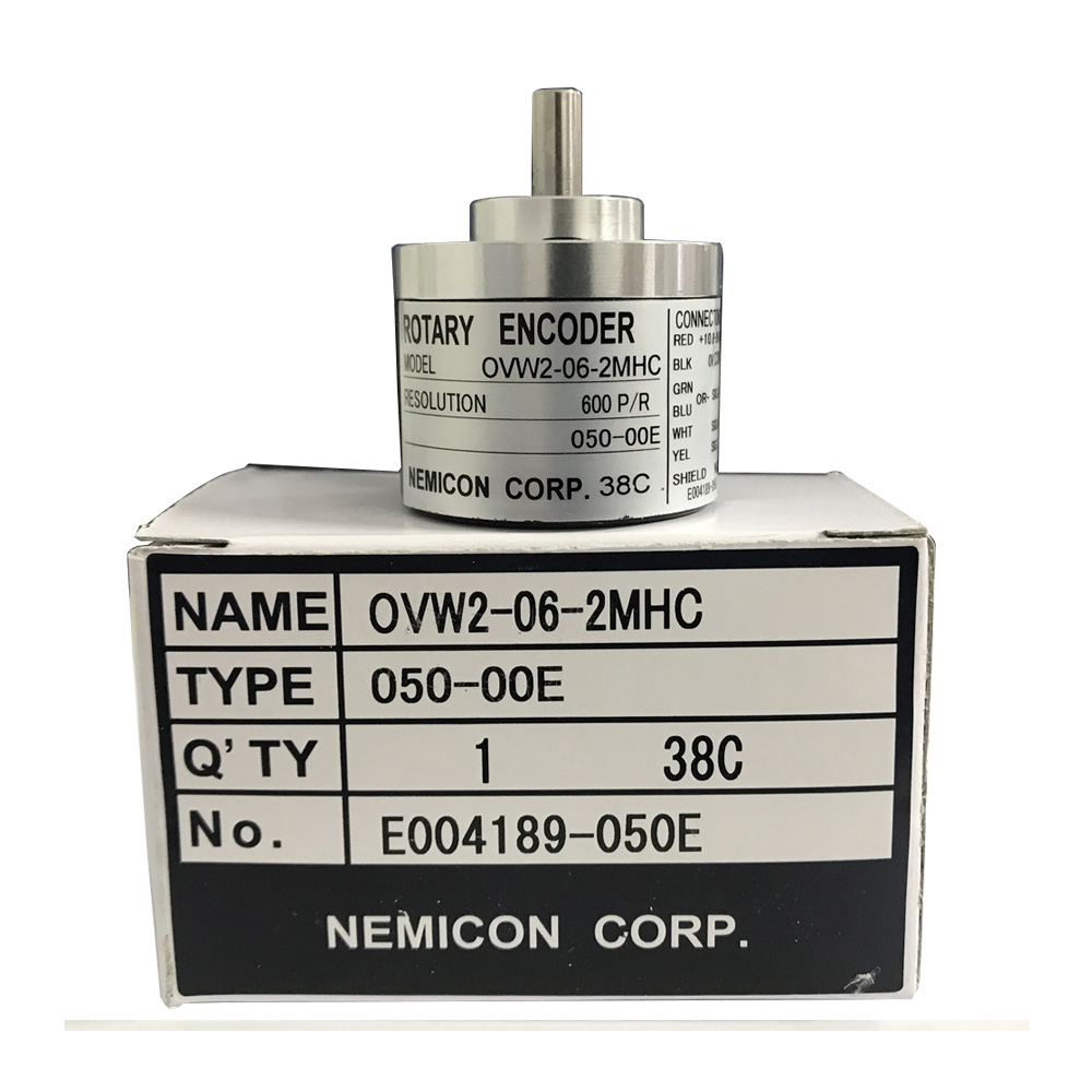 цена на High quality 6mm shaft optical encoder OVW2-06-2MHC 2MHT 2MD 600 pulse rotary encoder original NEMICON encoder