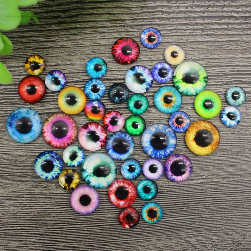 20Pcs/ Pack 10/16/20MM Plastic /Glass Dolls Eye DIY Crafts Eyes For Children Toy Dinosaur Animal Eye Accessories Color Random(China)