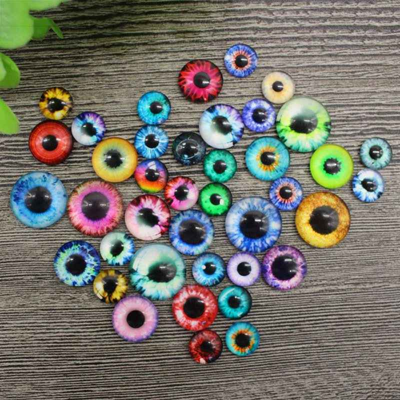 20Pcs/ Pack 10/16/20MM Plastic /Glass Dolls Eye DIY Crafts Eyes For Children Toy Dinosaur Animal Eye Accessories Color Random