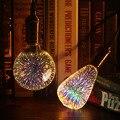 3d lâmpada led edison retro colorido e27 ac110v 220 v casa festival de vidro lampada branco quente rgb decoração de natal arte lâmpada