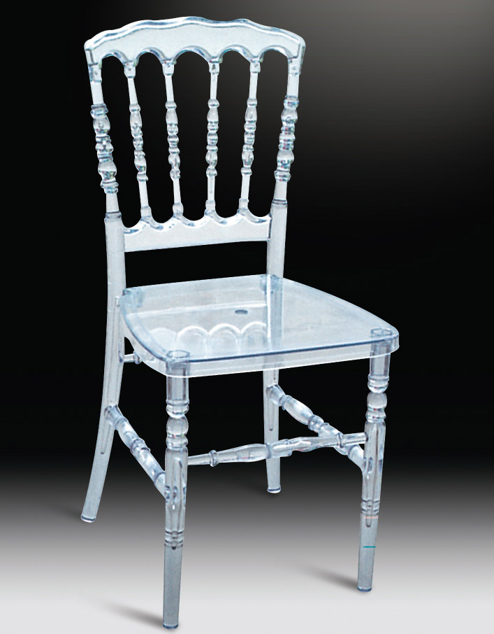 clear plastic chair with acrylic bamboo chair 5pc carton - Plastic Chair