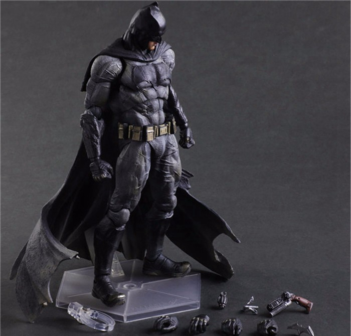 Batman Action Figures Play Arts Kai Dawn of Justice PVC Toys 270mm Anime Movie Model Heavily-armored Bat Man Playarts Kai