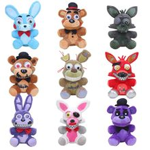 25 cm Cinco Noites no Freddy Freddy Springtrap Funtime FNAF Plush Doll Brinquedos Pesadelo das Foxy Mangle Bonnie Coelho Recheado animais(China)