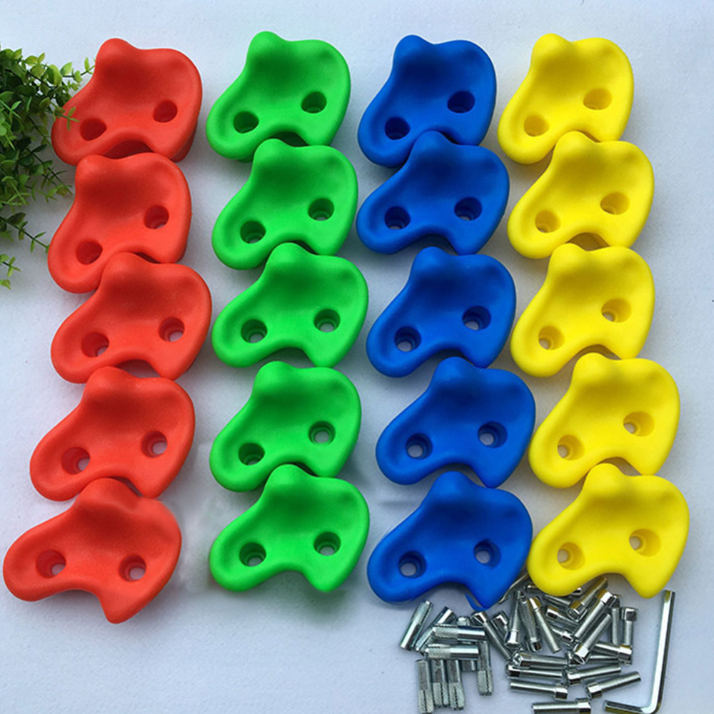 Kindergarten Playground Indoor climbing point outdoor wall fulcrum rock climbing stone 20 two-hole without screws карабин rock empire indoor 26 мм