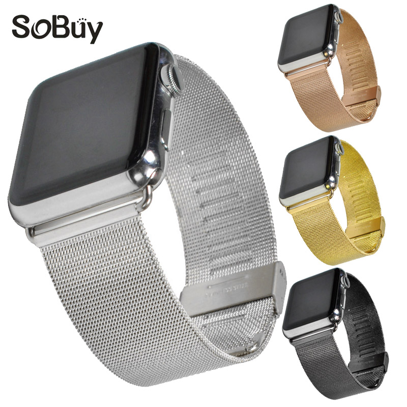 So buy for Apple Watch Series 3/2/1 stainless steel 38mm watchbands 42mm i watch Wristband Metal Link Bracelet for iwatch band