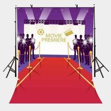 5x7ft Movie Premiere Backdrop Luxury High-end Photography Background and Studio Props