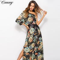 2018 Promotion Long Dress Vestidos De Fiesta Cross Border Aliexpress Bohemia Wind Sleeve Dress Single Spot