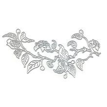 Carbon Steel Plant Flower Vine Pattern Cutting Die Embossing Stencil Mold For DIY Paper Art Handcraft Scrapbook Card Decoration diy santa pattern carbon steel cutting die