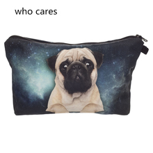 Trend Women Cosmetic Bag New Neceser Portable Make Up Bag Case 3D Print Galaxy Pug Organizer Bolsa feminina Travel Toiletry Bag