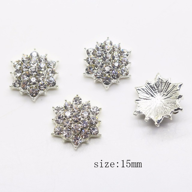 Fashion Hot 10Pcs 15mm alloy Hexagram Diy Jewelry Accessories rhinestones  pedestal embellishments caps Decoration For Making 3e892a8c74eb