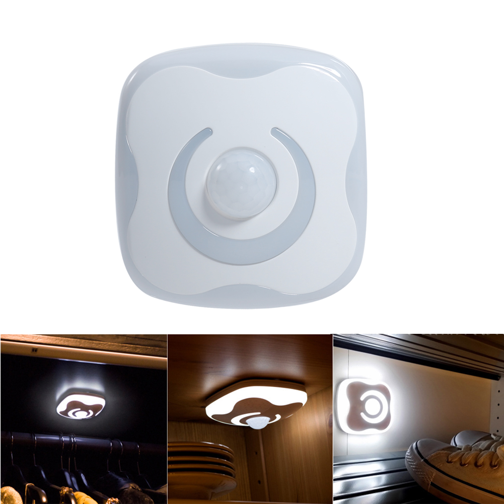 8 LED USB Charge Auto Sensor Motion PIR Light Infrared Human Body Induction Lamp LED Night Light For Baby Bedroom MFBS led beetle nightlight porch stairway wall lamp wireless motion sensor intelligent led human body induction sconce night lights