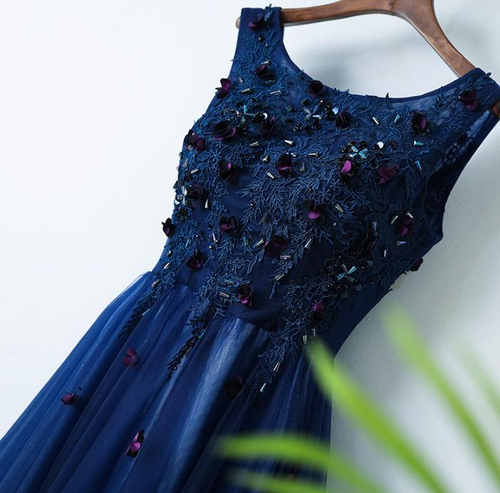 VENSANAC 2018 O Neck Crystal Sequined A Line Long Evening Dresses Elegant Lace Party Embroidery Flowers Prom Gowns in Evening Dresses from Weddings Events
