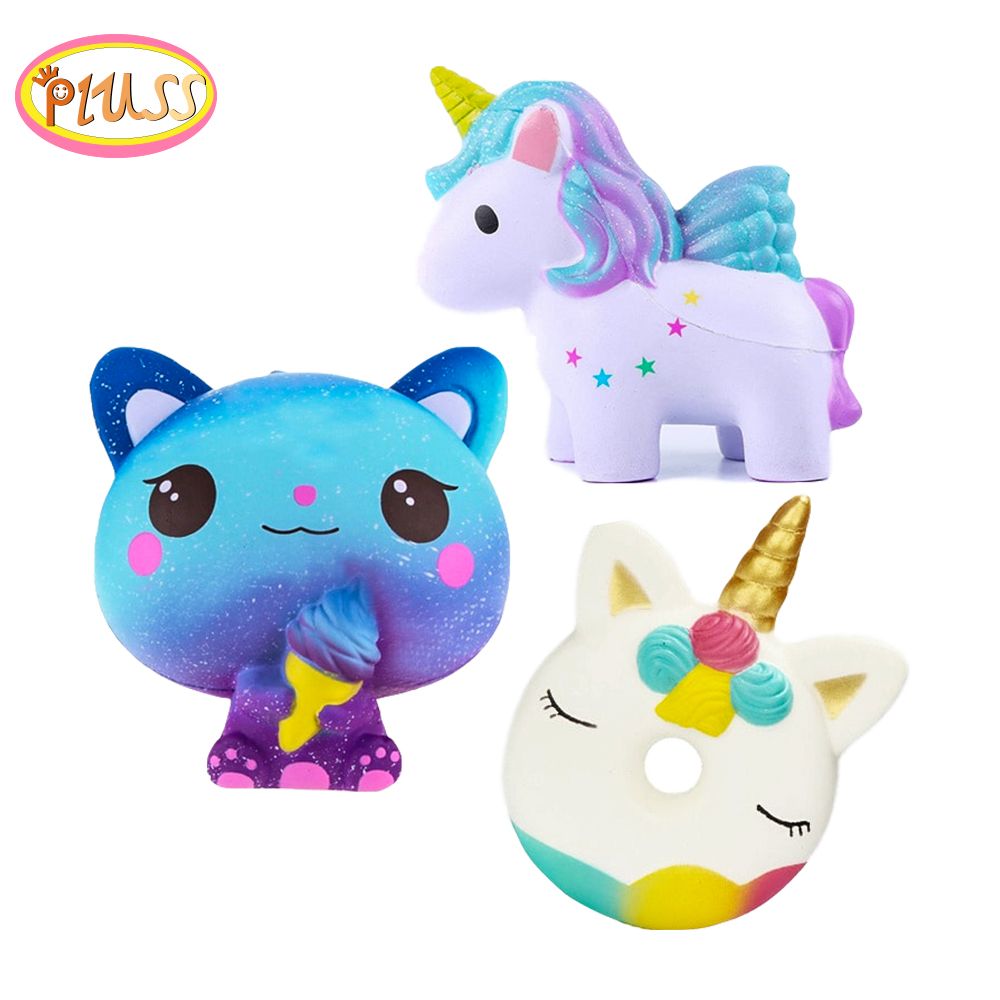 Squishies Jumbo Kawaii Colorful Galaxy Unicorn Squishy Doll Slow Rising Stress Relief Squeeze Toys For Kids(China)