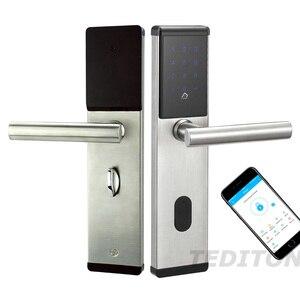 Image 1 - Elektroniczny zamek do drzwi, inteligentny Bluetooth cyfrowy aplikacji klawiatura kod Bezkluczowy zamek do drzwi