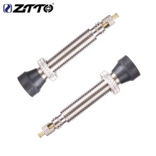 ZTTO Bike Parts MTB Road Bike Valves Tubeless FV Tire French F / V No Presta Tubes Tire Conversion Kit 30mm bike no tubes tubeless presta aluminum valves 1 pair with valve core tool for schrader presta valve extender mtb road bike