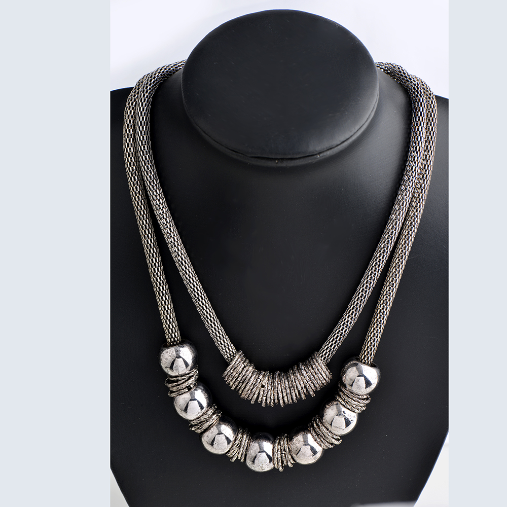 Bohemian Statement Silver Antic Necklaces Jewelry Vintage Collier Femme Choker Collar Multi Layer Necklace for Women Gipsy Style
