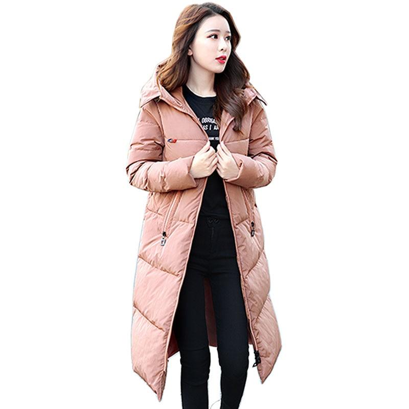 2018 Winter White Duck   down     coat   fahion brand good quality 95% duck   down   jacket female plus size zipper warm   down   parka Outwear