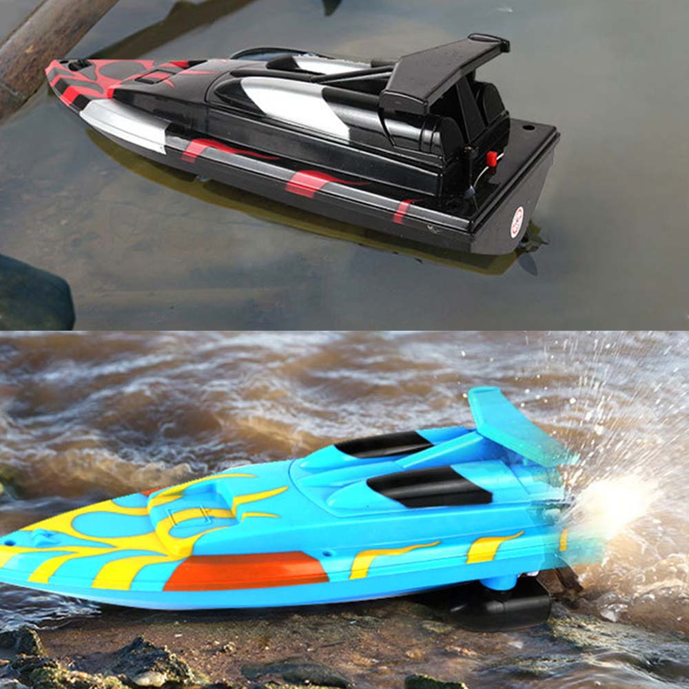 Wireless remote control electric boat speedboat rowing toy boat model high speed children boy waterproof yacht steamer in RC Boats from Toys Hobbies