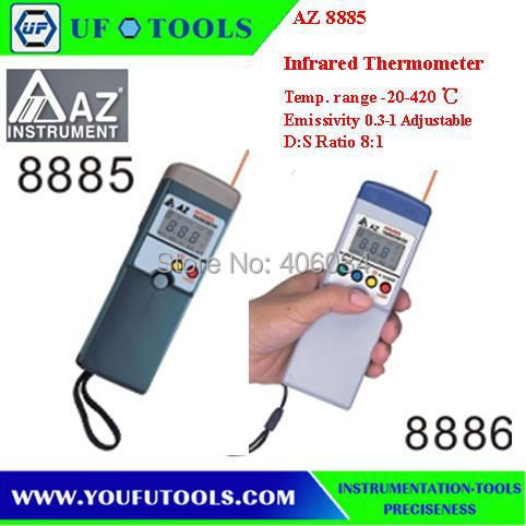 AZ8886 Infrared IR Thermometer Measuring range -20 ~ 420C AZ-8886 AZ 8886 Stick Type Infrared Thermometer  цены