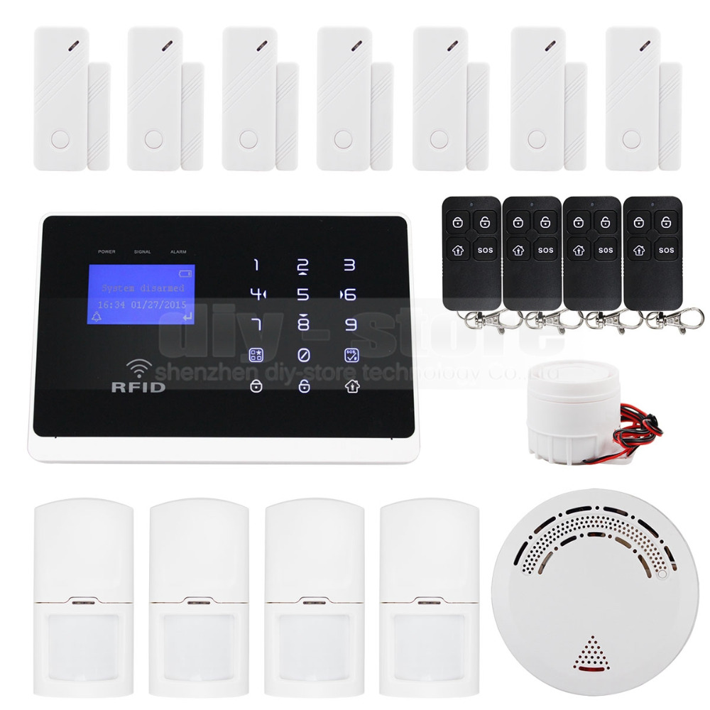 DIYSECUR Wireless Wired Defense Zones APP Controlled GSM Autodial Home Security font b Alarm b font