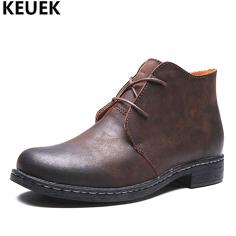 Осенне-зимние мужские Ботинки martin, ботильоны из натуральной кожи, большие размеры 38-47, мужская обувь на шнуровке, уличные ботинки-дезерты 01B