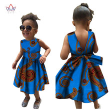 2019 African Women Clothing kids dashiki Traditional cotton Dresses Matching Africa Print dresses Children Summer BRW WYT22
