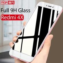 Xiaomi Redmi 4X Glass Tempered Screen Protector 2.5d Mofi Ultra Clear Thin 9H Full Cover