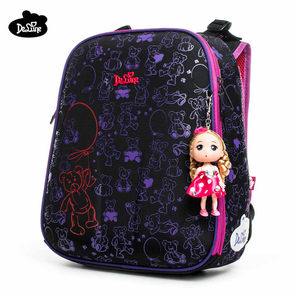 Delune Brand Safe Orthopedic Children School Backpack Girls School Bags for  1-3 Grade class 13495b79d6c53