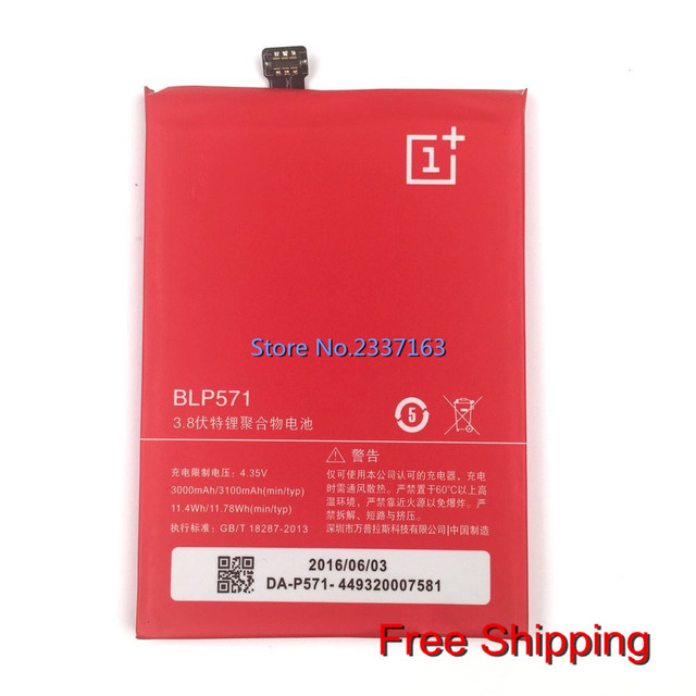 new Battery BLP571 (3.8V 3100mAh) for OPPO ONEPLUS ONE 1+ A0001 phone Replacement