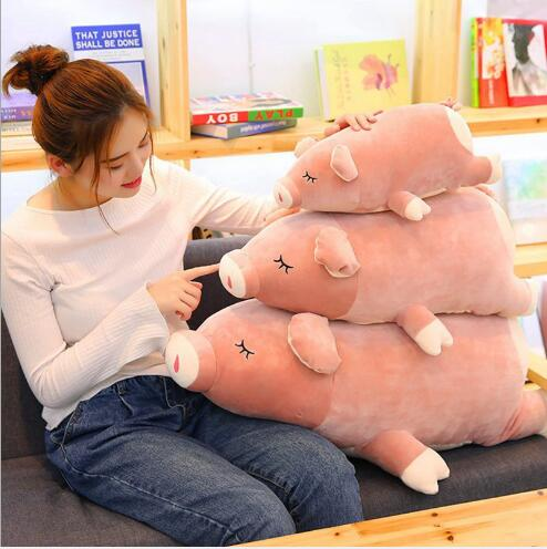 WYZHY Peach Pig Doll Pillow Plush Toy Sofa Decoration Send Friends and Children Gifts 40CM