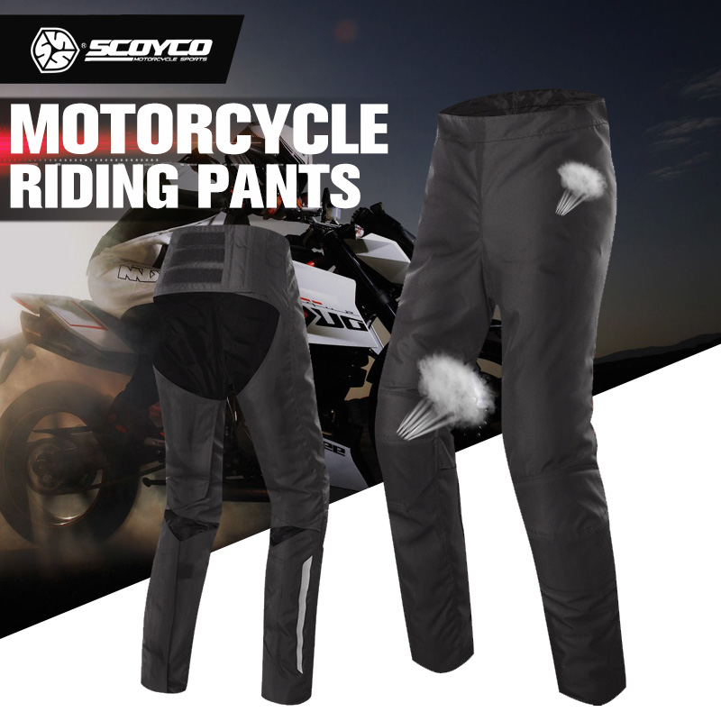 SCOYCO Motorcycle Pants Motorbike Trousers Quick Release Racing Clothing Casual Leisure Pants Winter Warm Ultralight Moto Pants scoyco mens motorcycle pants racing trousers winter summer p028