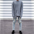 2016 Autumn Best Sell Hip Hop Mens Kanye West Baggy Casual Hoodies Oversize Long Sleeve Sweatshirt Streetwear Plus Size Oneck