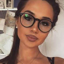 New Fashion Women Glasses Frame Men Black Eyeglasses Frame Vintage Round Clear Lens Glasses Optical Spectacle Frame(China)