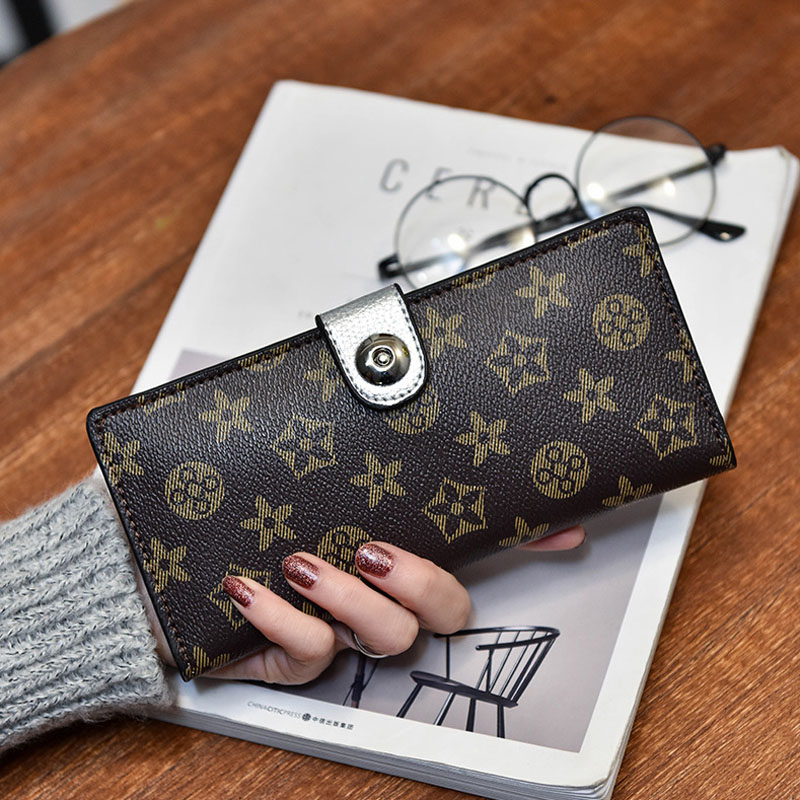 купить Pu Leather Wallet Women Long Change Purse Vintage Womens Wallets and Purses Female Credit Card ID Holder Money Bag Party Pouch недорого