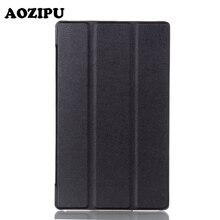 Tri-fold PU Funda de piel para Lenovo TAB 3 8 TB3-850F/M & TAB 2 A8-50 Tablet de 8 pulgadas Funda protectora Cubierta de la Caja Del Imán Inteligente