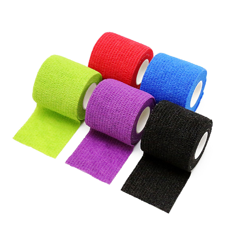 Tattoo Grip Bandage Cover Wrap 5cm Nonwoven Waterproof Self Adhesive Finger Wrist Protection Disposable Elastic For Handle Tube