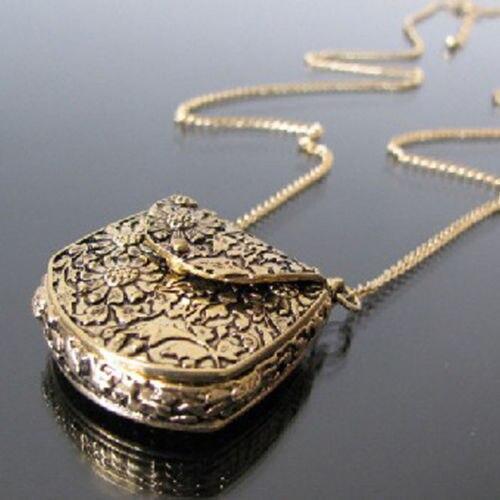 Блестящее качество специальные Винтаж резные бронзовые медальон кулон длинной цепи Уникальный Цепочки и ожерелья 5c8x