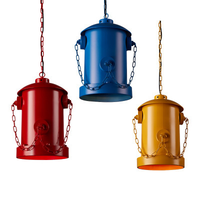 Loft personality iron industry wind restaurant lamp Cafe living room bar aisle fire hydrant pillar Chandelier
