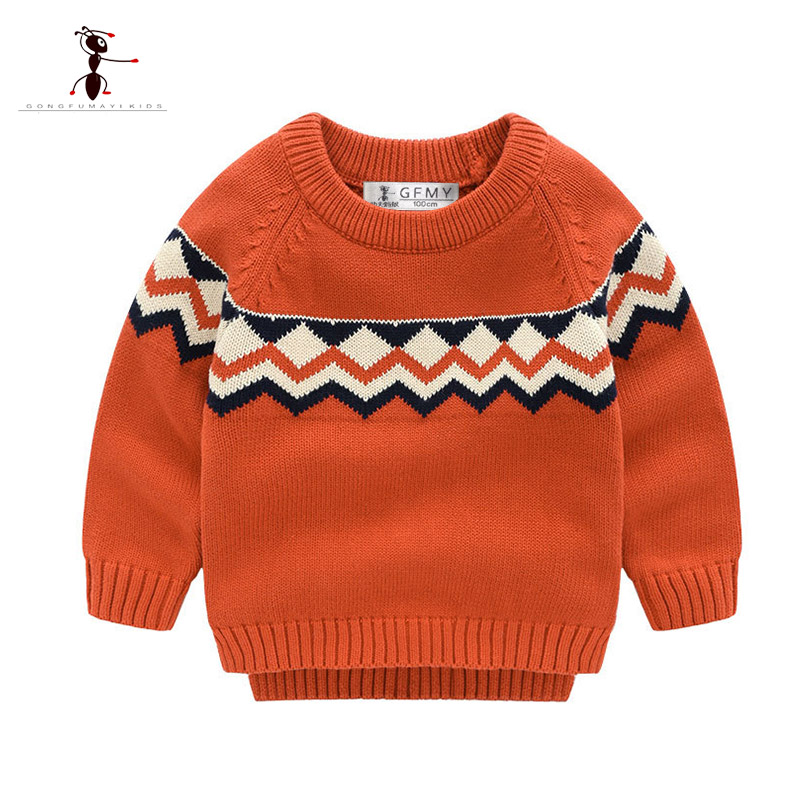 Tops, Baby, Sweater, Cotton, Autumn, O-Neck