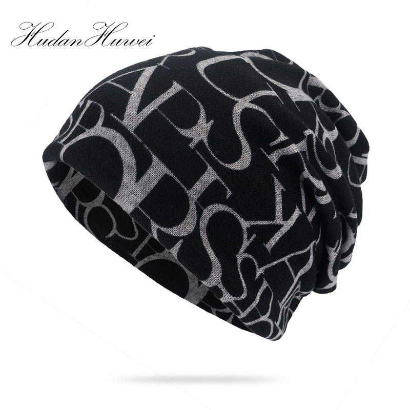 Fashion Autumn Thin Beanie Hat Women Men Letter & Beanies
