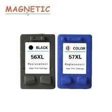 2x Магнитная совместимый чернильный картридж для HP56 57 с чернилами hp Deskjet 5150 450CI 5550 5650 7760 9650 PSC 1315 1350 2110 2210 2410 принтер 56
