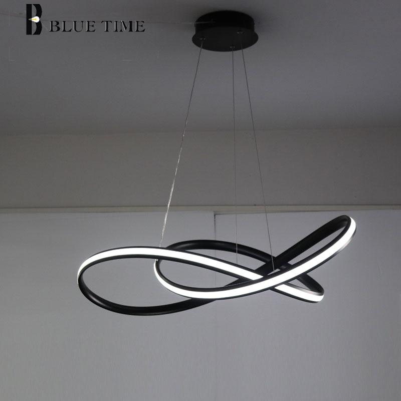 Современные светодиодный Люстра для гостиной столовой лампа для спальни Креативный дизайн светодиодный хрустальная люстра повесить лампа