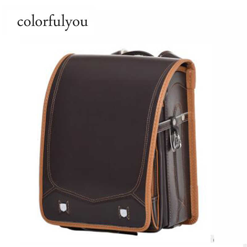 Colorfulyou 2019 новые школьные Сумки из искусственной кожи для детей с металлической пряжкой ортопедические рандосеру японские рюкзаки детские школьные сумки