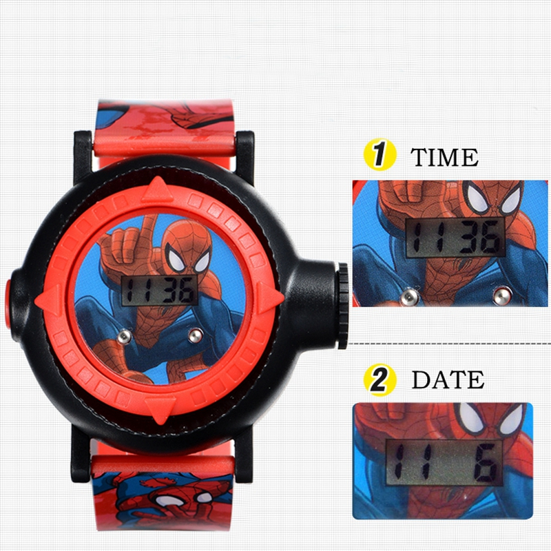 Watches Able Genuine Marvel Spider Man Projection Led Digital Watches Children Cool Cartoon Watch Kid Birthday Gift Disney Boy Girl Clock Toy