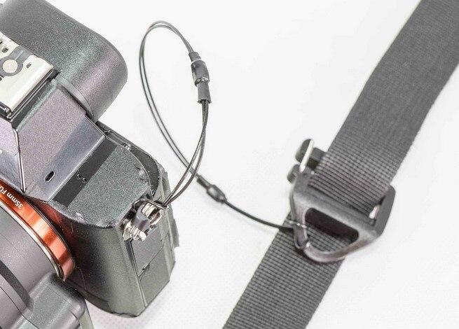 Métal Corde D'attache pour DSLR Sangle Premium Cordon de Sécurité Pour Une Utilisation sur Votre Canon Nikon Sangle (ou Utiliser comme GoPro Attache) haute Résistance