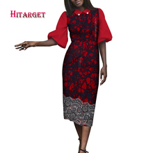 Danshiki Elegant Women African Dresses Wax Print Cotton Dress  Long Africa Clothing WY4167 african print dresses