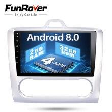 """FUNROVER Quad-core 2 din 9 """"Android 8.0 PC per auto DVD GPS Per Ford Focus AT MT 2005- 2011 2 GB di RAM 32G wifi Radio Stereo Bluetooth fm"""