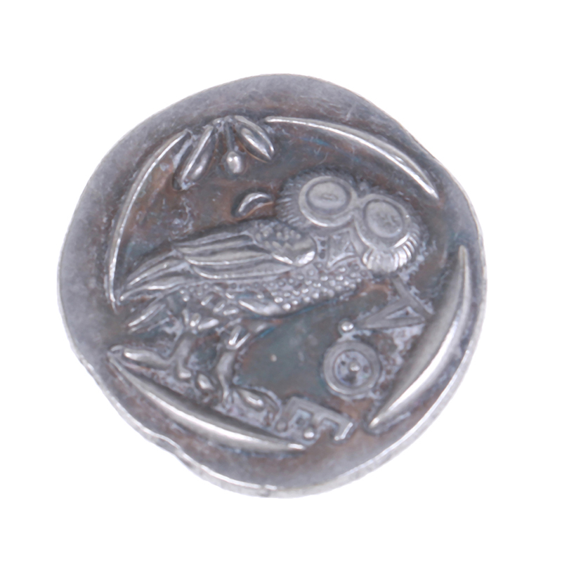 1Pc Ancient Athens Greek Silver Drachm - Atena Greece Owl Drachma Copy Coins