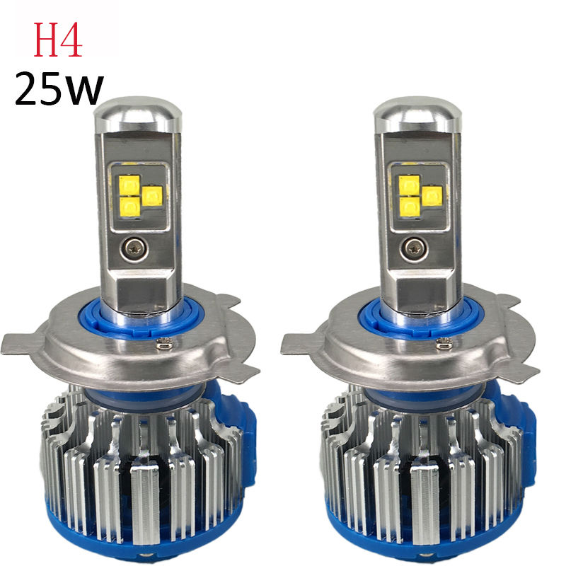 H4 HB2 9003 LED Car Headlight Bulbs 80W 6000LM High Power LED Headlight 6000K Led Lamp 12V Kit for High Light and Low Beam Hi/Lo anti interference 2x new h4 9003 hb2 180w 30000lm led headlight kit hi lo beam bulbs 6000k 2018
